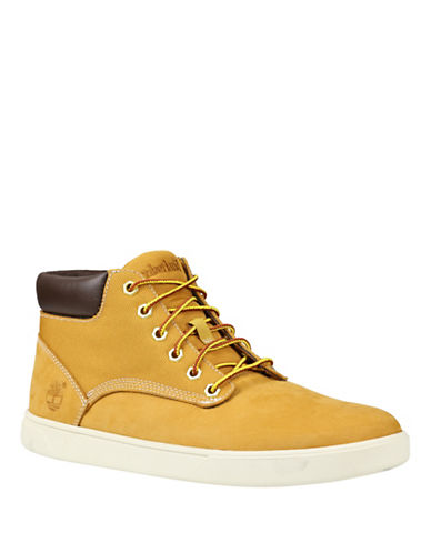 Timberland Groveton Leather and Fabric Chukka Boots-WHEAT-10