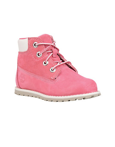 Timberland Pokey Pine Waterproof Leather Boots-PINK-9
