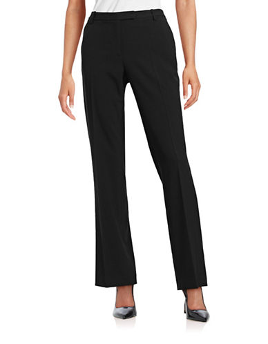 Calvin Klein Madison Straight Leg Dress Pants-BLACK-8