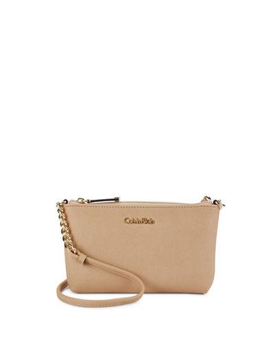 Calvin Klein Compact Saffiano Crossbody-NUDE-One Size 88807627_NUDE_One Size