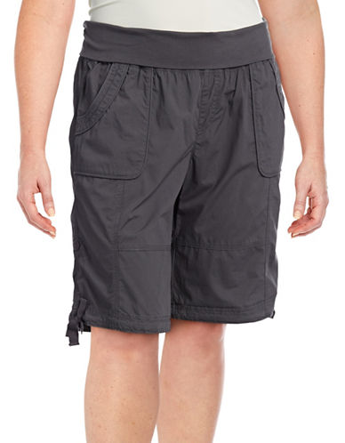 Calvin Klein Performance Plus Quick-Dry Cargo Bermuda Shorts-CHARCOAL-3X 89208416_CHARCOAL_3X