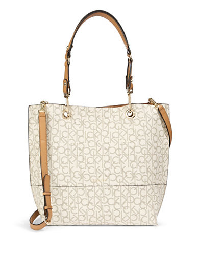 Calvin Klein Reversible Faux Leather Tote-LIGHT BEIGE-One Size