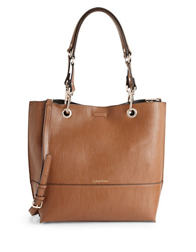 Calvin Klein Reversible Tote with Pouch-COPPER-One Size