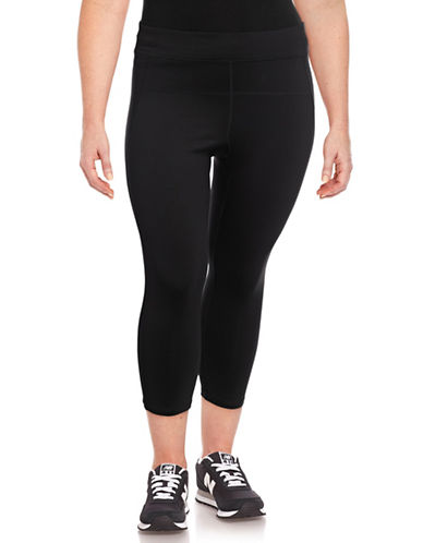 Calvin Klein Performance Plus High-Waisted Compression Leggings-BLACK-3X