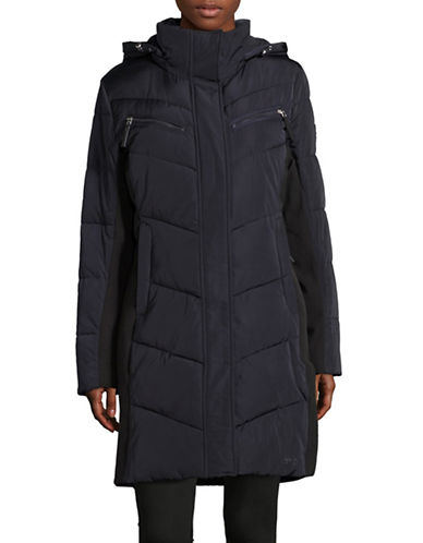 Calvin Klein Hooded Jacket-NAVY-X-Small