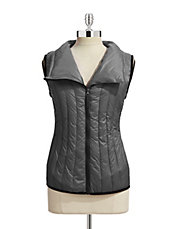CALVIN KLEIN PERFORMANCE Down Vest with Asymmetric Zip