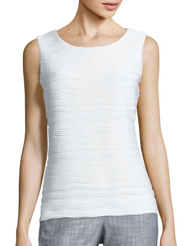 Calvin Klein Ribbed Sleeveless Cami-WHITE-Large