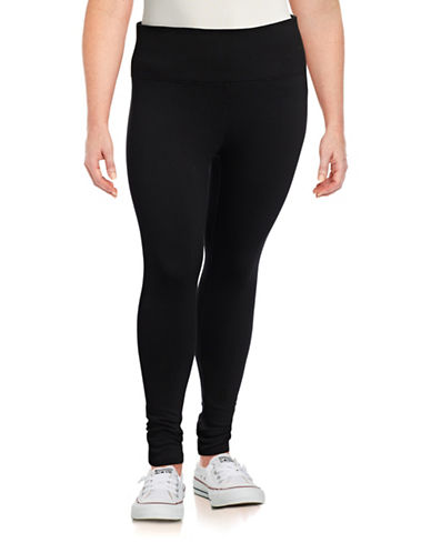 Calvin Klein Performance Plus High-Waist Leggings-BLACK-1X 87755069_BLACK_1X
