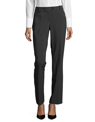 Calvin Klein Crosshatched Modern-Fit Pants-CHARCOAL-16