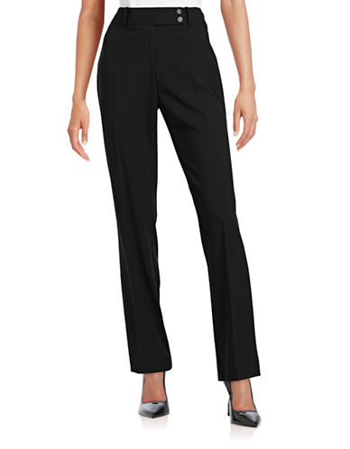 Calvin Klein Curvy-Fit Trouser Pants-BLACK-12