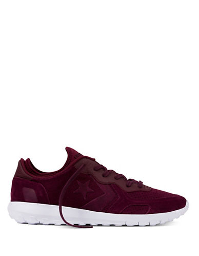 Converse Mens Thunderbolt Ultra Low-Cut Suede Running Shoes-BORDEAUX-9.5