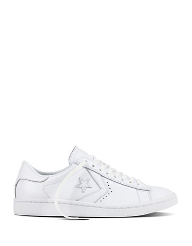 Converse Womens Leather Oxford Sneakers-WHITE-8