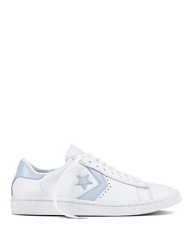 Converse Womens Leather Oxford Sneakers-WHITE-7