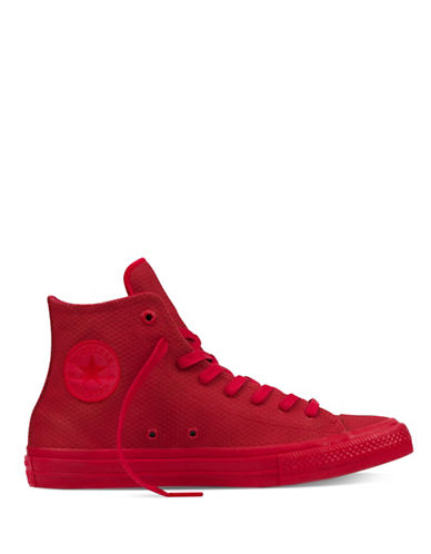 Converse Mens Chuck Taylor Hi-Top Leather Sneakers-RED-8