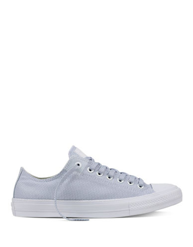 Converse Mens Chuck Taylor All Star II Basketweave Fuse Sneakers-WHITE/BLUE-9.5