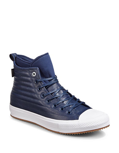 Converse Chuck Taylor All Star Quilted Leather Sneakers-BLUE-11