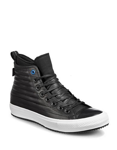 Converse Chuck Taylor All Star Quilted Leather Sneakers-BLACK-9