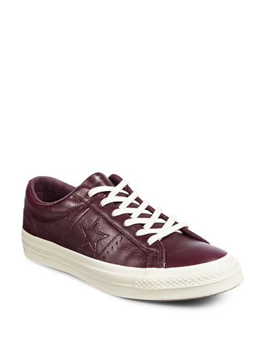 Converse Leather Low-Cut Sneakers-SANGRIA-4.5