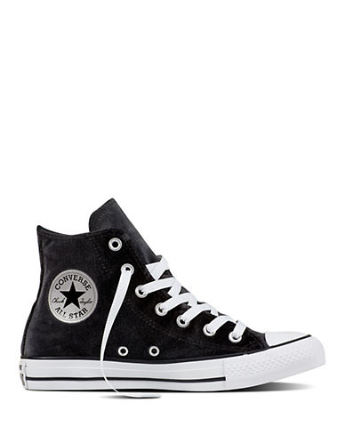 Converse Velvet Hi-Top Sneakers-BLACK-6.5