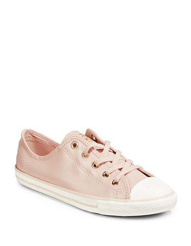 Converse Dainty Low-Top Sneakers-PINK/GOLD-8