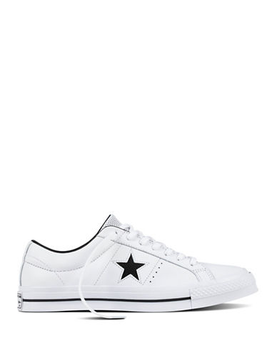 Converse Perforated One Star Leather Low Top Sneakers-WHITE-9.5