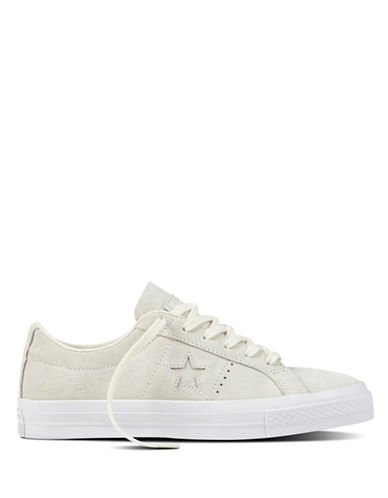 Converse Womens One Star Suede Oxfords-GREY-8