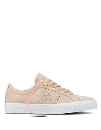Converse Womens One Star Suede Sneakers-PINK-7.5
