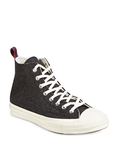 Converse Chuck 70 Felt High Top Sneakers-BLACK-8