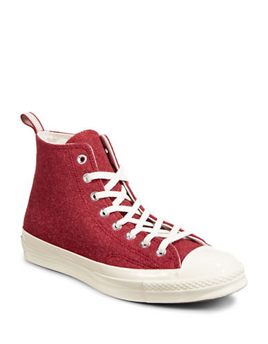 Converse Chuck 70 Felt High Top Sneakers-RED-12