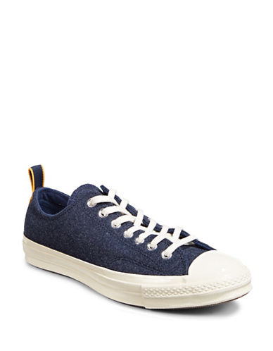 Converse Chuck 70 Felt Low Top Sneakers-BLUE-8.5