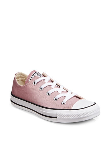 Converse Metallic Low-Top Sneakers-PINK-9.5