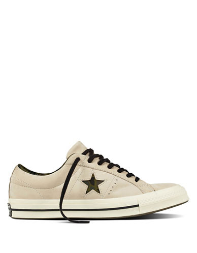 Converse Mens One Star Camo Leather Low-Top Sneakers 90001432