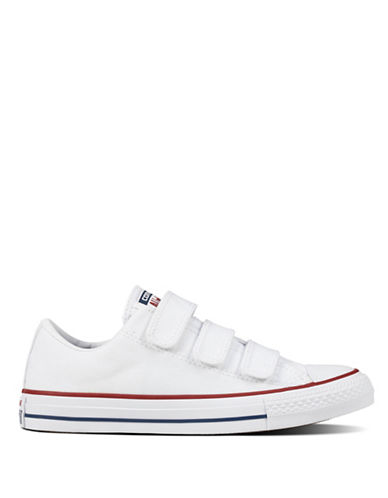 Converse 3V Canvas Low-Top Sneakers-WHITE-9