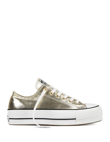 Converse Lift Metallic Canvas Platform Sneakers-GOLD-7.5