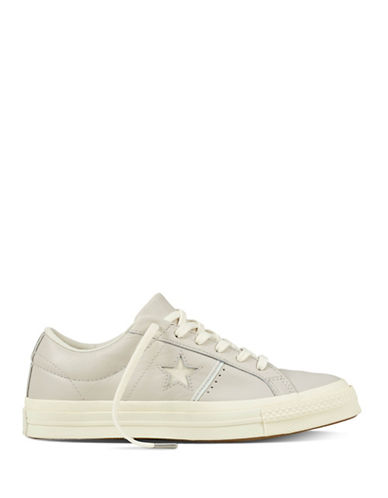 Converse One Star Canvas Sneakers-GREY-10