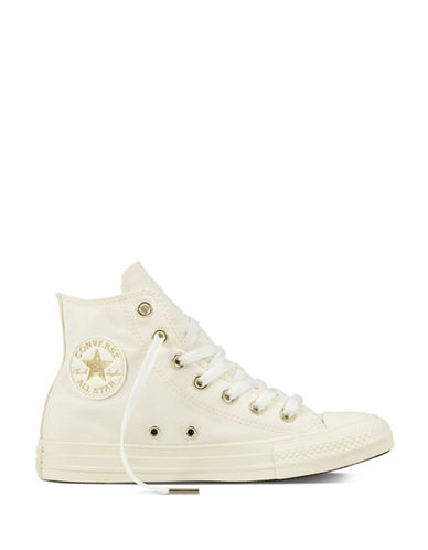 Converse Chuck Taylor High Top Sneakers-BEIGE-5.5