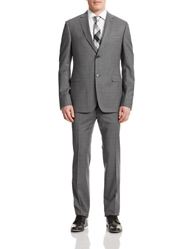Z Zegna Two-Piece Slim Solid Wool Suit-GREY-EU 56/US 46