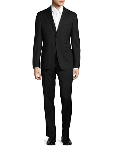 Z Zegna Classic-Fit Two-Button Suit-BLACK-42