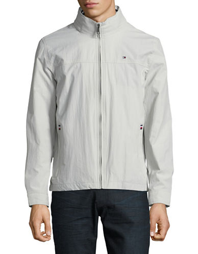 Tommy Hilfiger Taslan Stand Collar Jacket-WHITE-Small 89835575_WHITE_Small