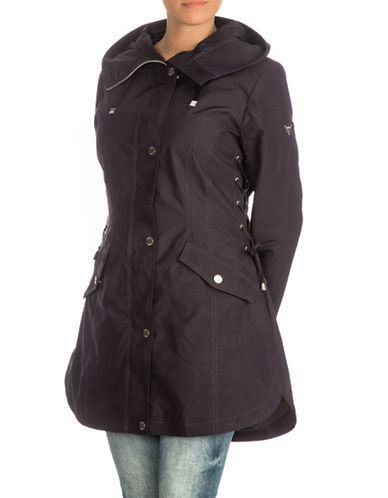 Guess Lace-Up Side Anorak Jacket-NAVY-Large