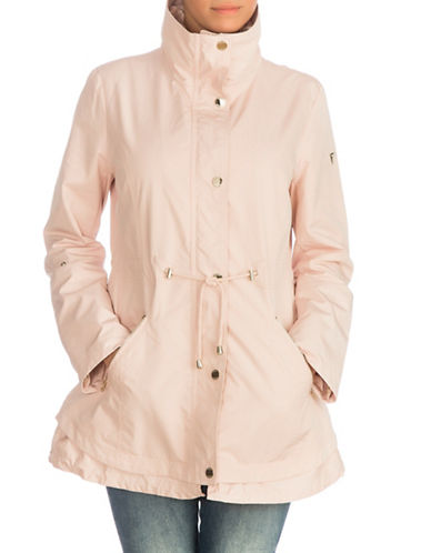 Guess Hooded Snap Button Anorak Jacket-PINK-Small