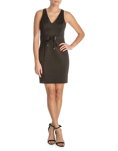 Guess Corset Sleeveless Dress-BLACK-8