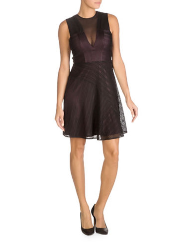 Guess Lace A-line Dress-PURPLE-8