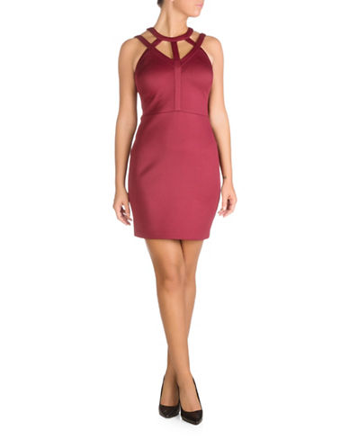 Guess Selfie Scuba Bodycon Dress-RED-4