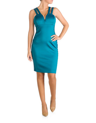 Guess Double Strap Midi Dress-BLUE-14