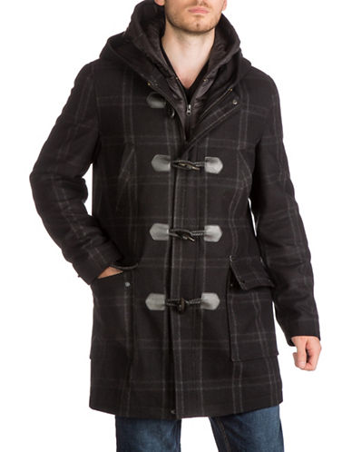 Guess Hooded Toggle Coat-ASSORTED-Large