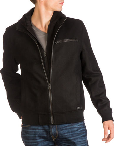 Guess Zip-Up Hooded Jacket-BLACK-XX-Large 89274636_BLACK_XX-Large