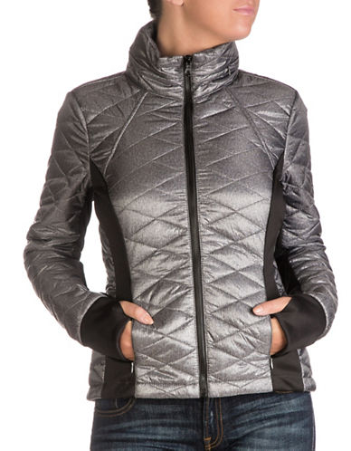 Guess Hooded Packable Jacket-GREY-Small