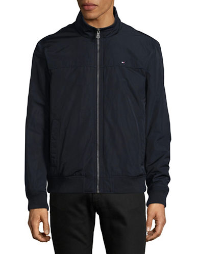 Tommy Hilfiger Nylon Bomber Jacket-NAVY-X-Large
