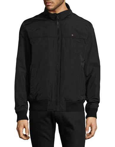 Tommy Hilfiger Nylon Bomber Jacket-BLACK-Large